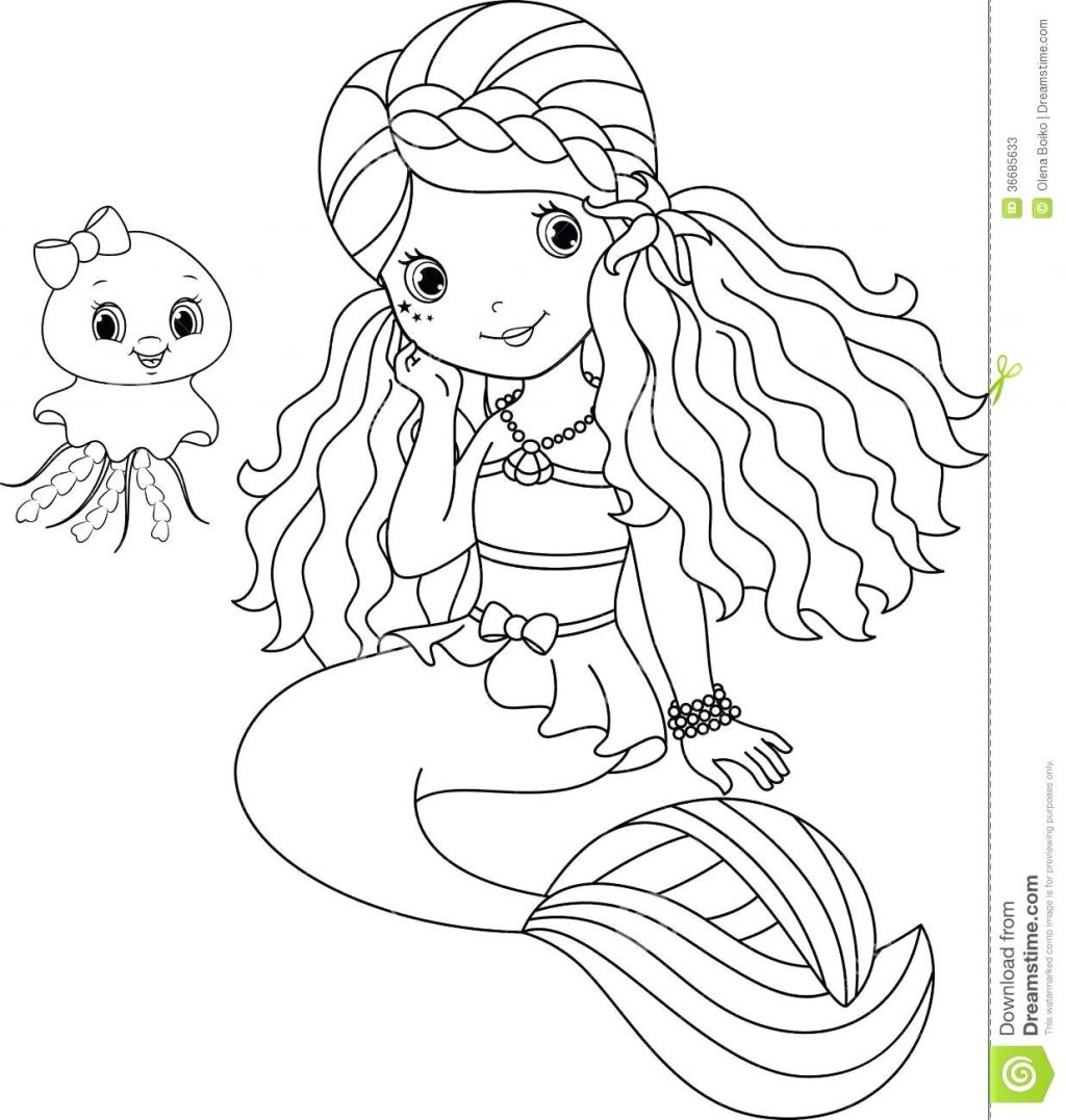 Baby Mermaid Drawing at GetDrawings.com | Free for personal use Baby ...