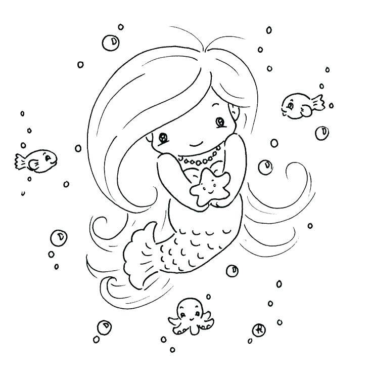 Baby Mermaid Coloring Pages