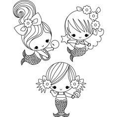 236x236 Vintage Baby Mermaid Clipart