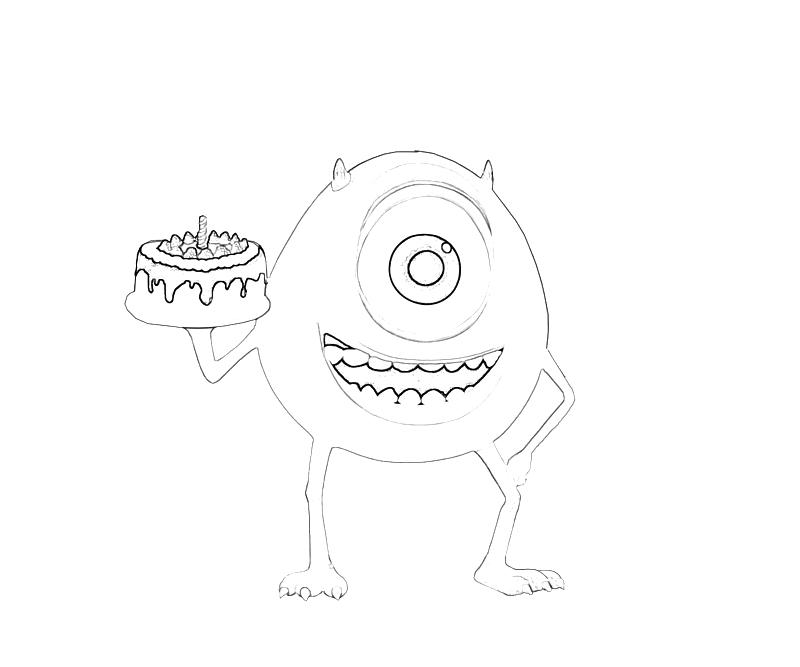 800x667 Monsters Inc Mike Wazowski Cake Mario
