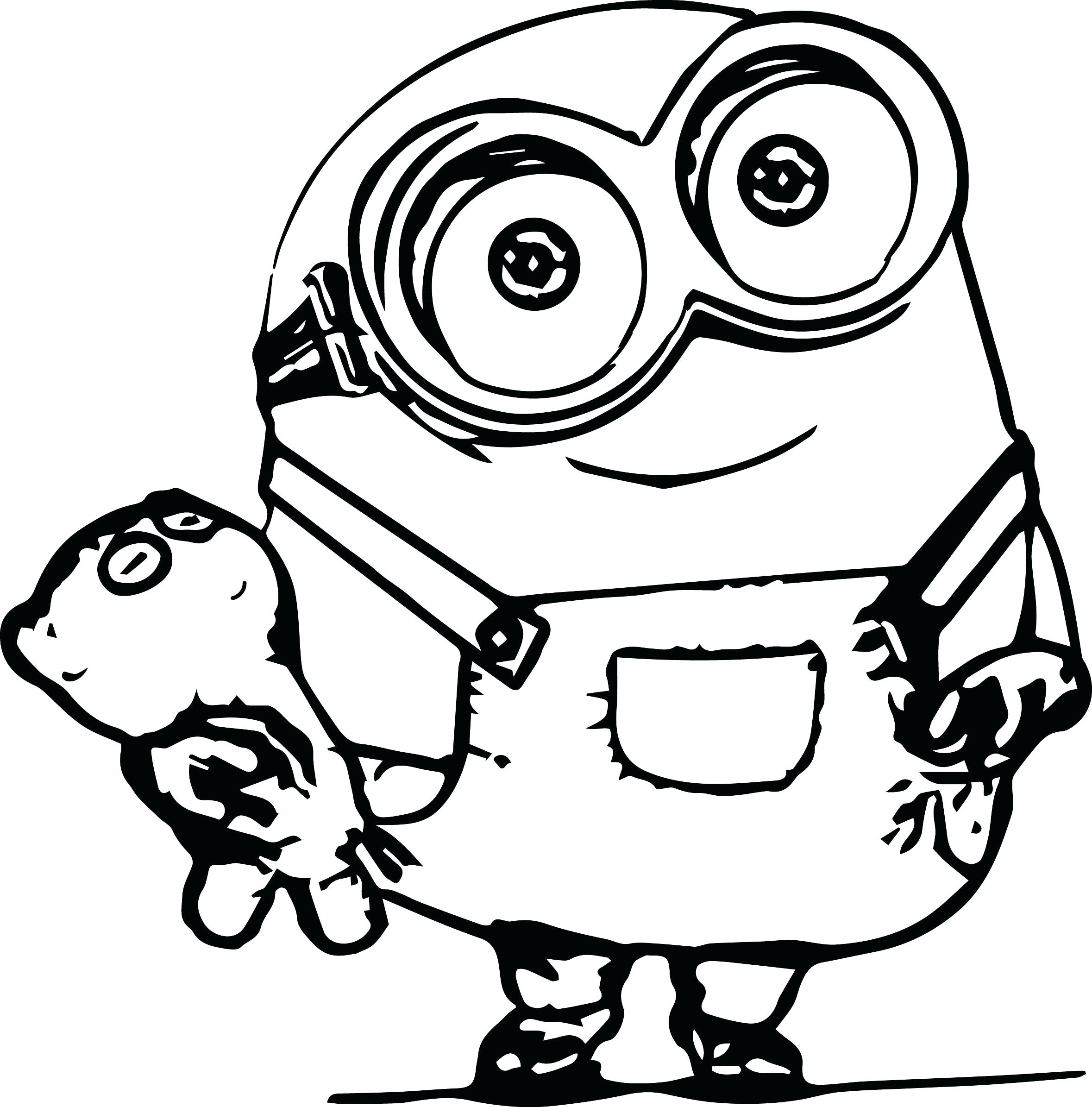 2358x2390 Coloring Mike Wazowski Coloring Pages Monster Inc For Kids Baby