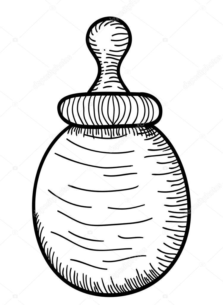 750x1023 Hand Drawn Baby Milk Bottle Stock Vector Lianella