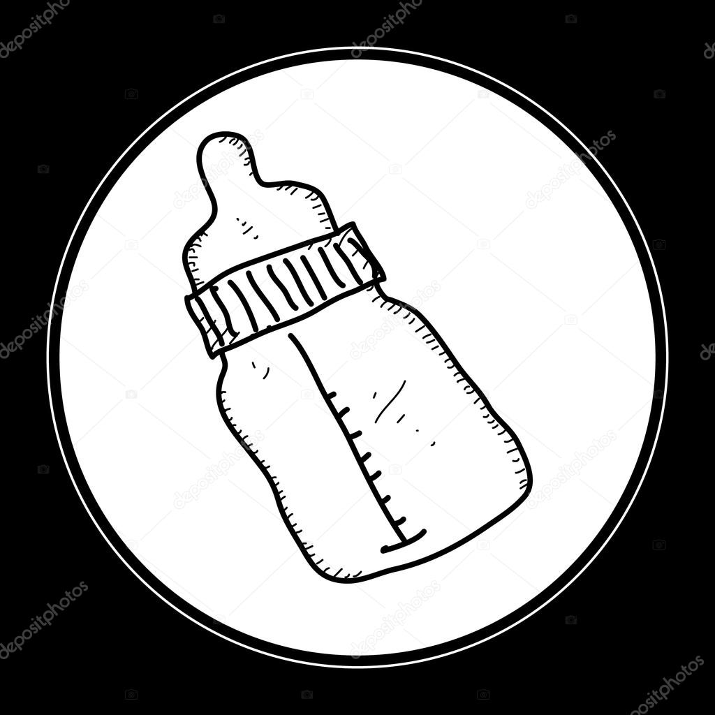 1024x1024 Simple Doodle Of A Babies Milk Bottle Stock Vector Chrishall