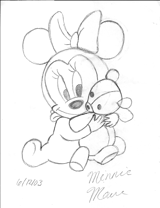 637x826 Baby Minnie Mouse By Foshizzlemynizzle