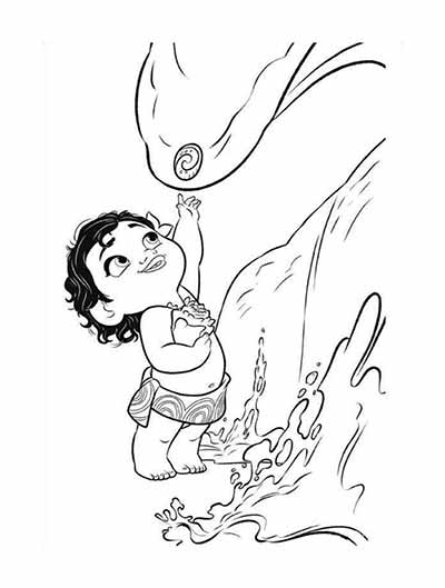 Baby Moana Drawing