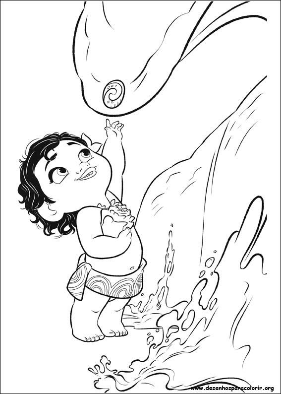 Baby Moana Drawing at GetDrawings.com | Free for personal use Baby ...