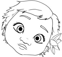 242x224 Moana Coloring Pages