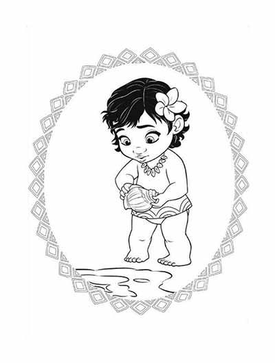 400x529 59 Moana Coloring Pages (Updated February 2018) Moana