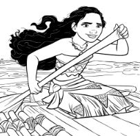 203x197 Moana On Boats Coloring Pages