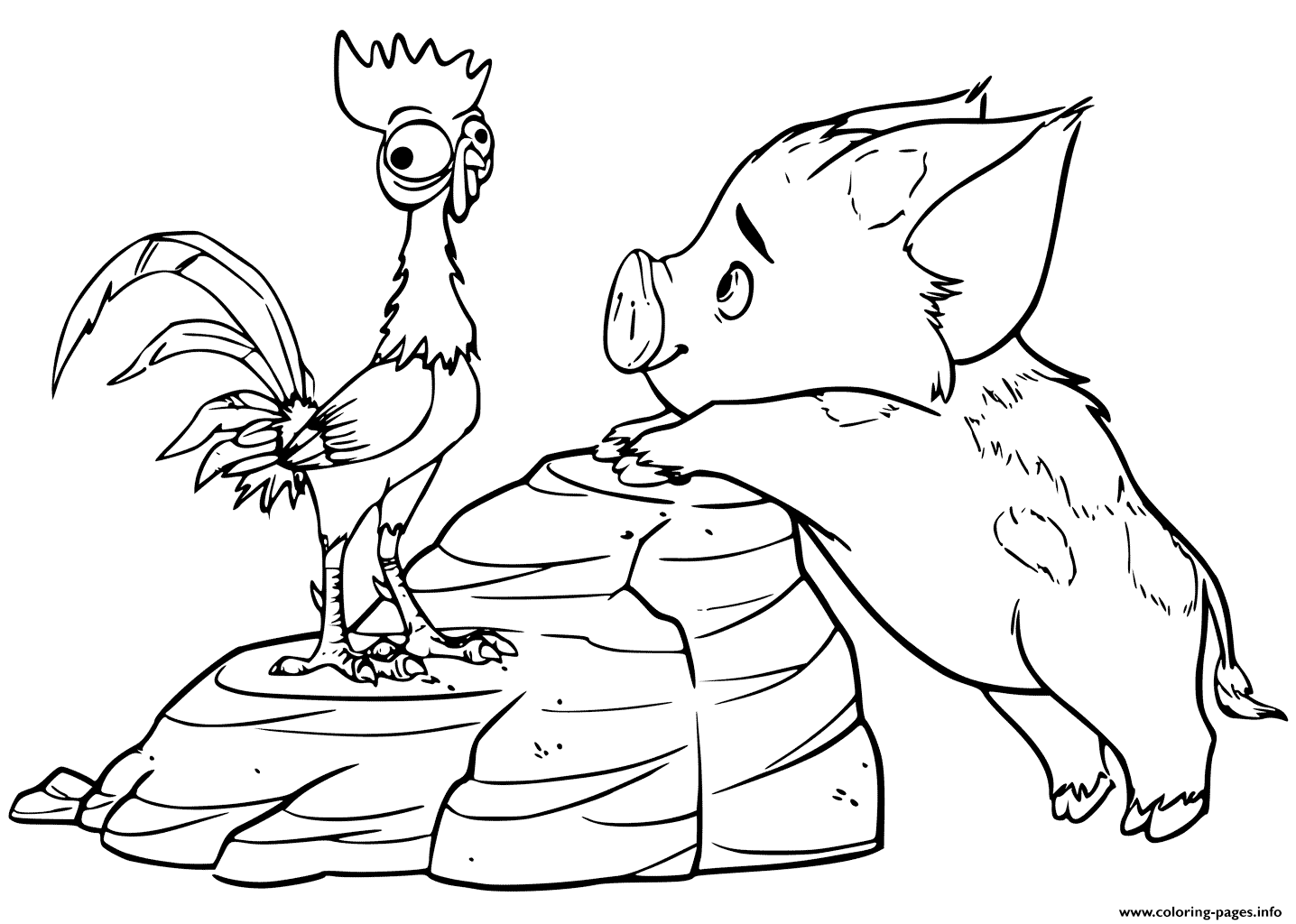 1436x1024 Pua Moana Coloring Pages Baby Moana And Maui Coloring Pages