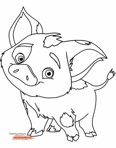 400x511 59 Moana Coloring Pages (Updated March 2018) Pua, Moana
