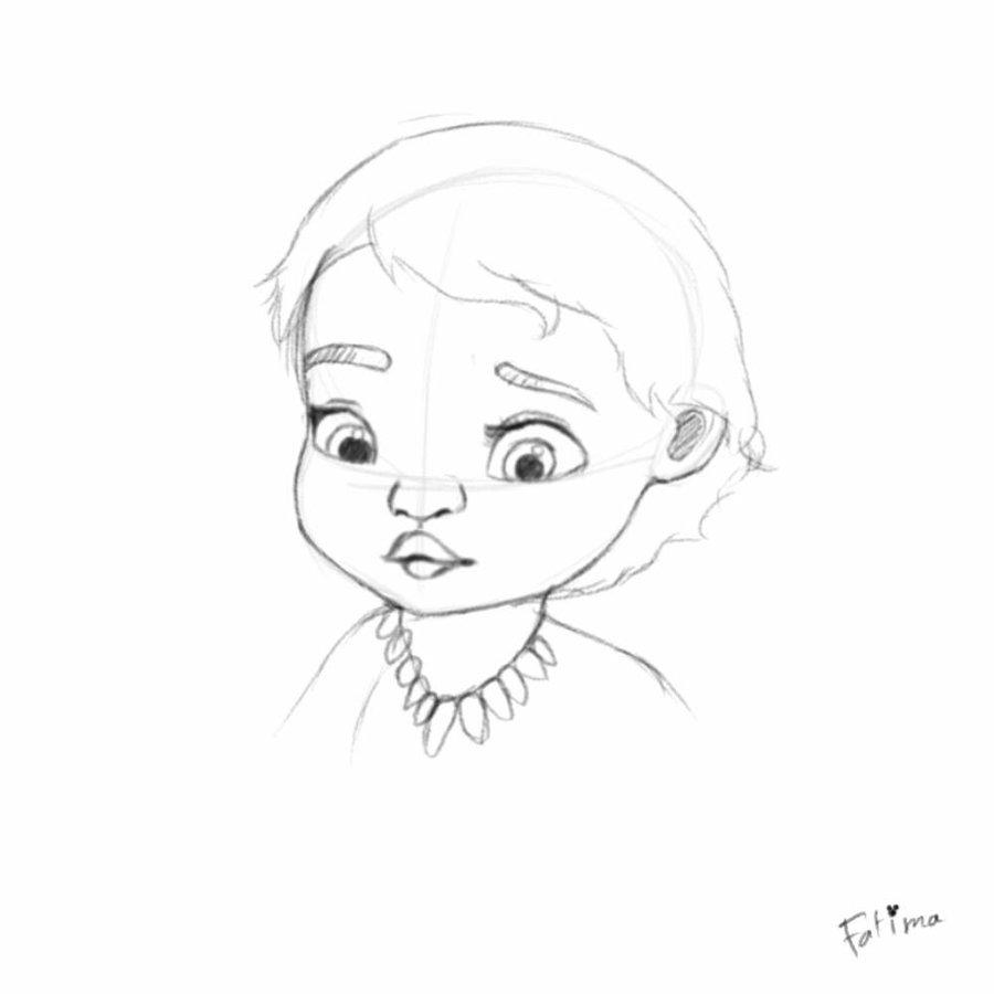 900x900 Baby Moana Sketch By Fatimasketch