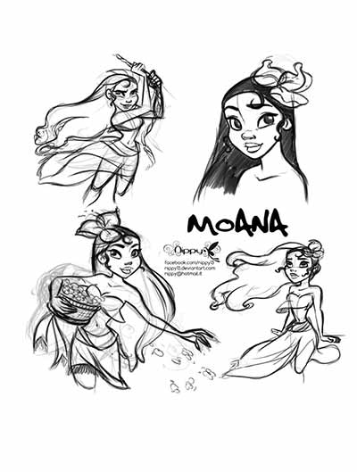 400x529 59 Moana Coloring Pages (Updated March 2018)