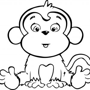 300x300 Coloring Pages Of Baby Monkey Fresh Fresh Coloring Pages A Monkey