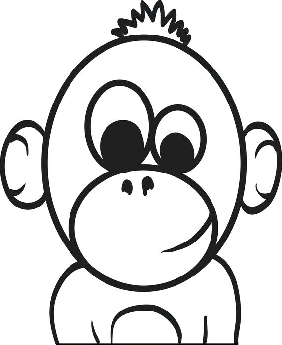 572x700 Baby Monkey Coloring Pages Baby Cartoon Monkey Coloring Page Puppy