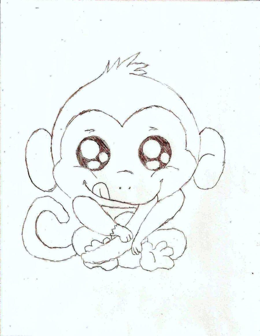 900x1159 Baby Monkey Pencil Sketch Monkey Drawings Free Download Clip Art
