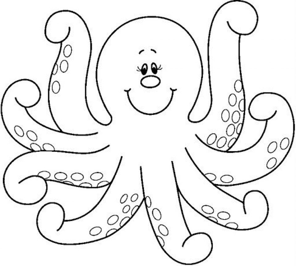 960x864 Coloring Coloring Printable Octopuses Cartoon Free Animals Baby