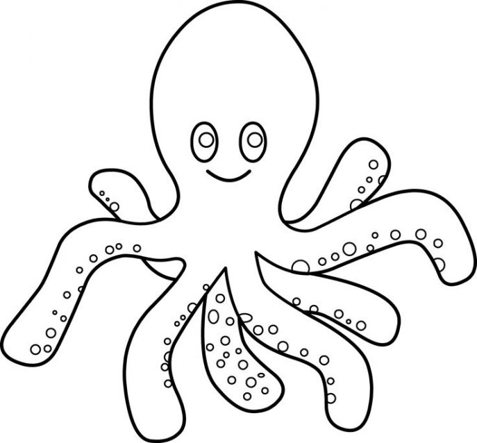 687x638 Coloring Pages Octopus Coloring Pages Octopus Coloring Pages