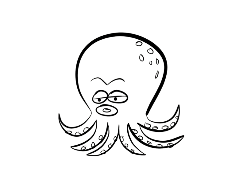 792x612 Cute Octopus Coloring Pages