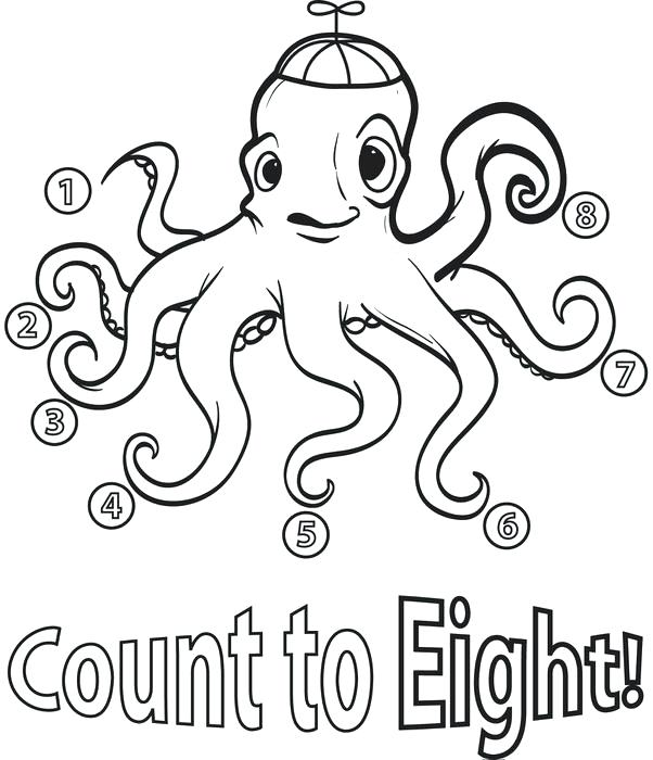 602x700 Octopus Coloring Pages Count To Eight Octopus Coloring Page Baby