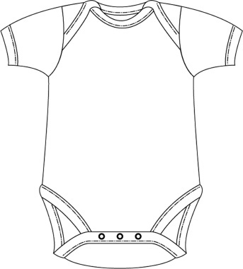 343x380 Best Photos Of Outline For Onesie Card