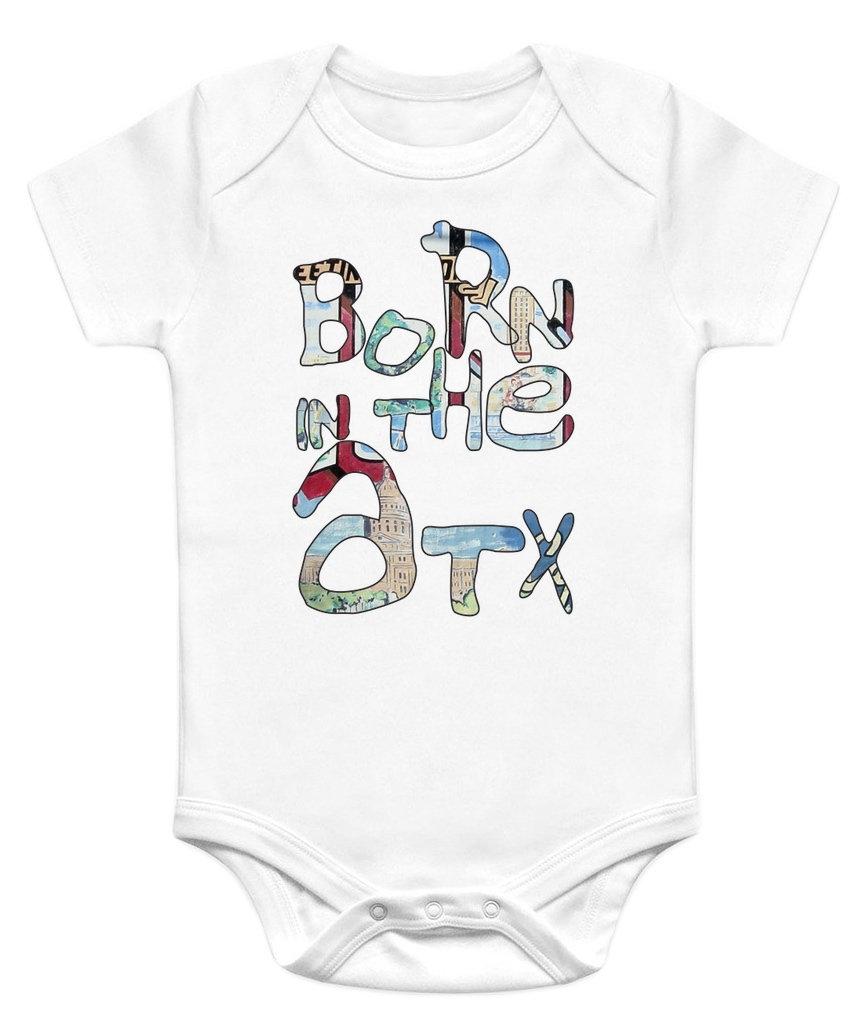 868x1035 Born In The Atx Baby Onesie Austin, Texas Baby Onesies