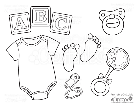 550x425 Baby Onesie Free Printable Coloring Page