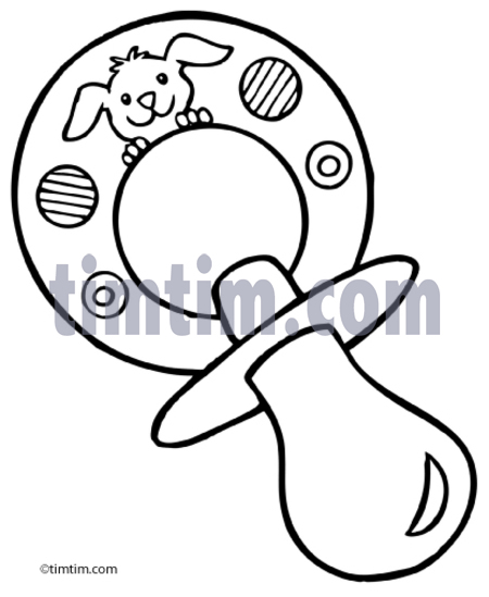Baby Pacifier Drawing at GetDrawings.com | Free for personal use ...
