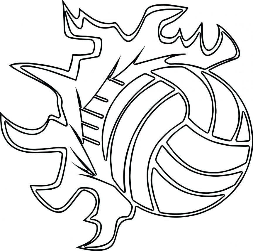 863x855 Volleyballs Players Sports Ball Outline Coloring Page Baby Winnie
