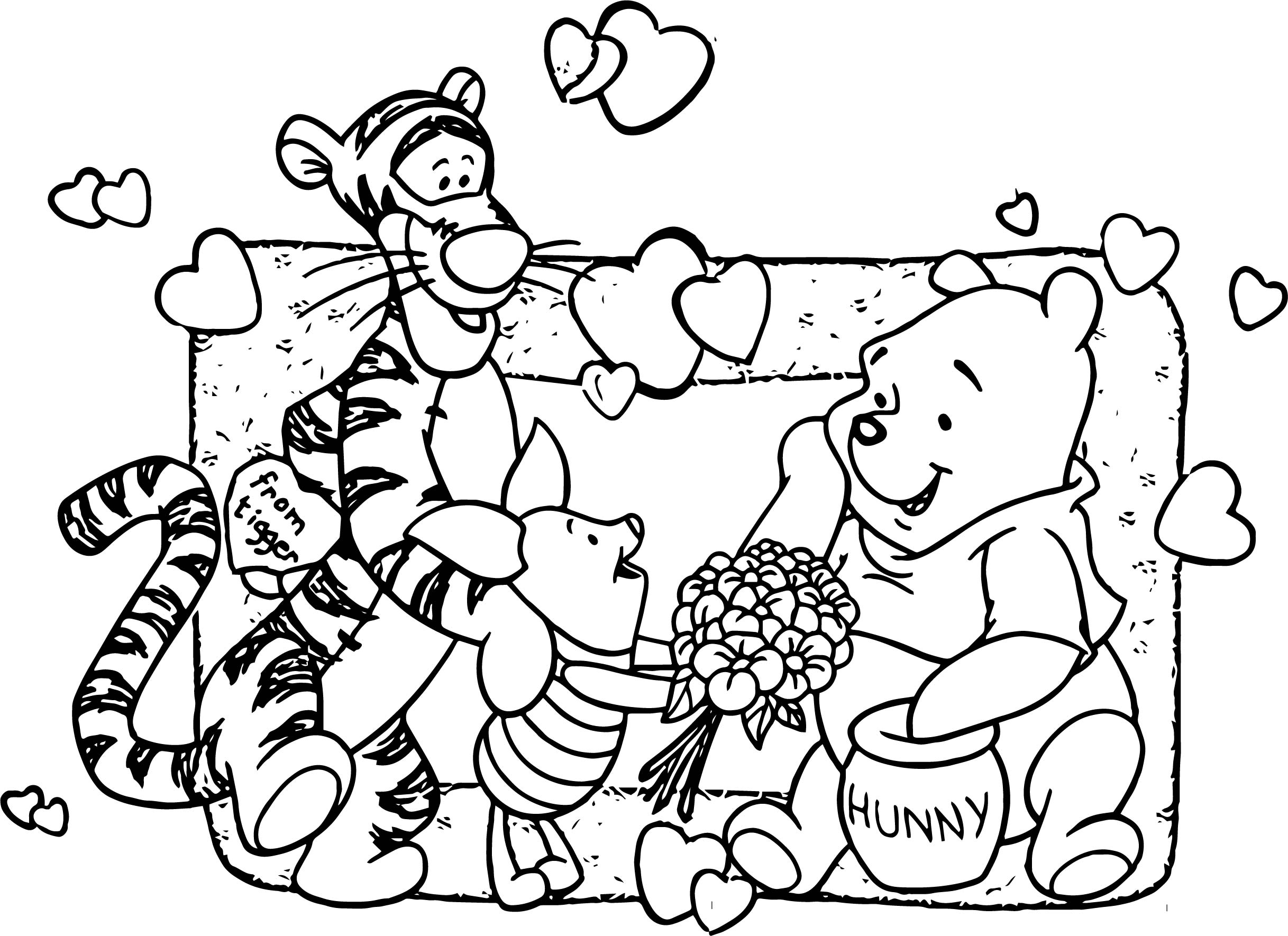 2435x1770 Baby Piglet Winnie The Pooh From Tigger Hunny Coloring Page