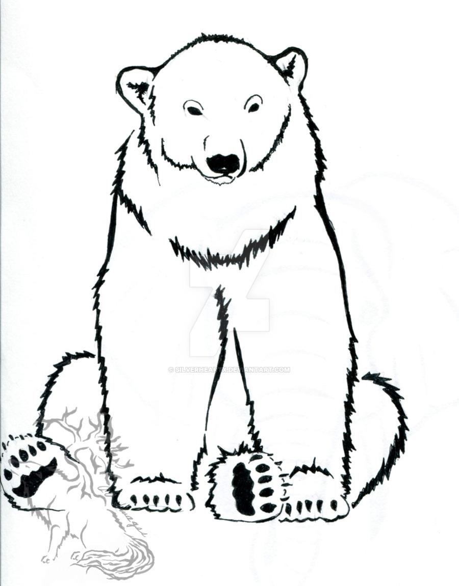900x1150 Polar Bear Ink Design By Silverheartx