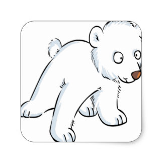 324x324 Baby Polar Bear Stickers Zazzle