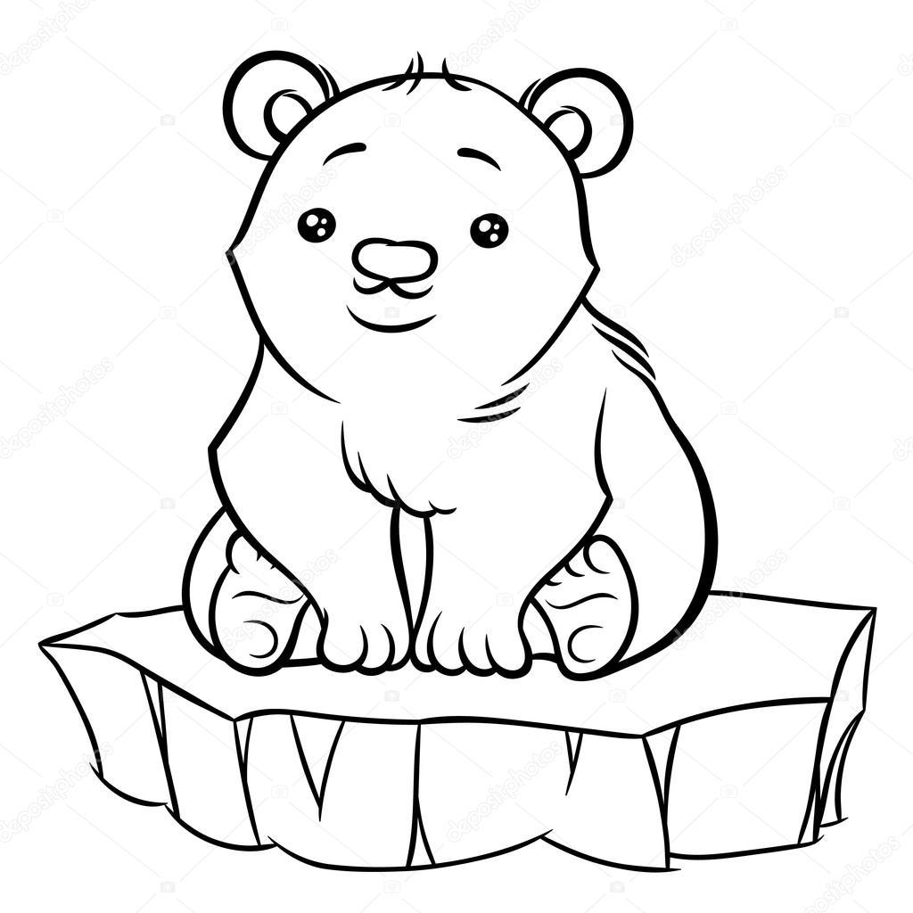 1024x1024 Cute Polar Bear Stock Vector Annasuchkova