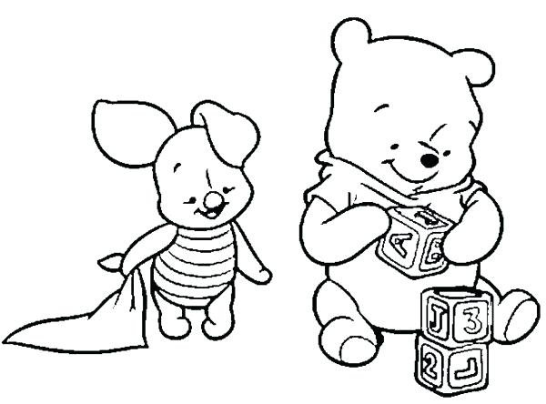 600x444 Baby Winnie The Pooh Coloring Sheets Printable For Pretty Draw