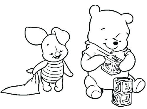 500x370 Pooh Bear Coloring Page Pooh Bear Coloring Page Baby Pooh Bear