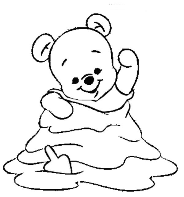 600x640 Winnie The Pooh Baby Coloring Pages