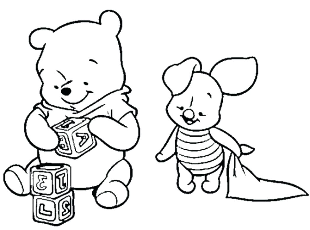 1048x776 Coloring Baby Winnie The Pooh Characters Coloring Pages
