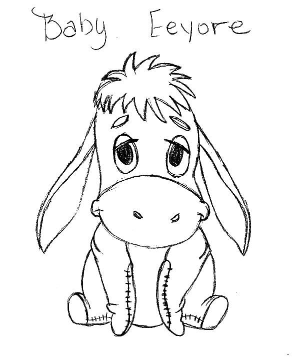 600x727 Pencil Drawings Baby Disney Characters Cartoon Drawings