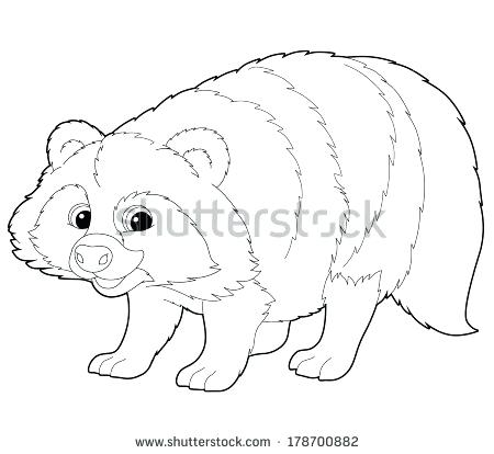 450x414 Raccoon Coloring Pages Cartoon Animal Raccoon Coloring Page