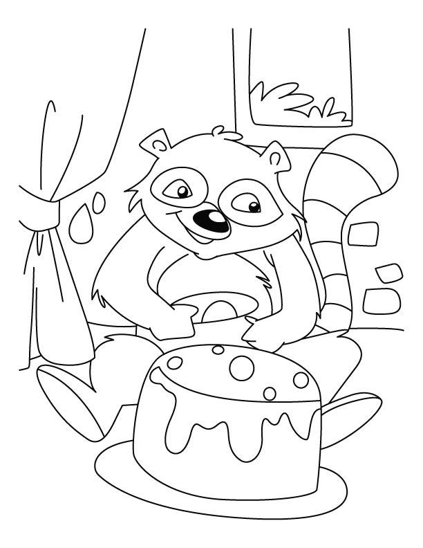 Baby Raccoon Drawing at GetDrawings   Free download