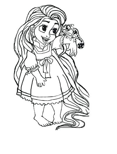 Baby Rapunzel Drawing at GetDrawings.com | Free for personal use ...