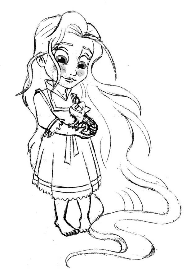 600x878 Baby Rapunzel Coloring Pages