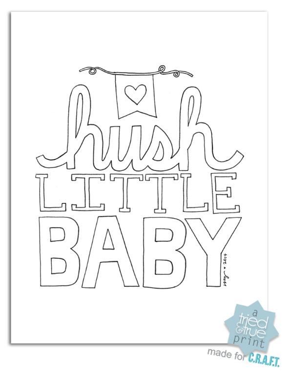 600x776 Free Nursery Printables {Hush Little Baby}