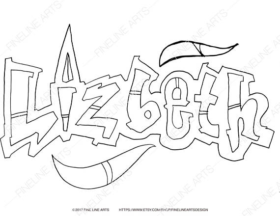 570x440 Lizbeth Coloring Book Pages Girls Baby Womens Names