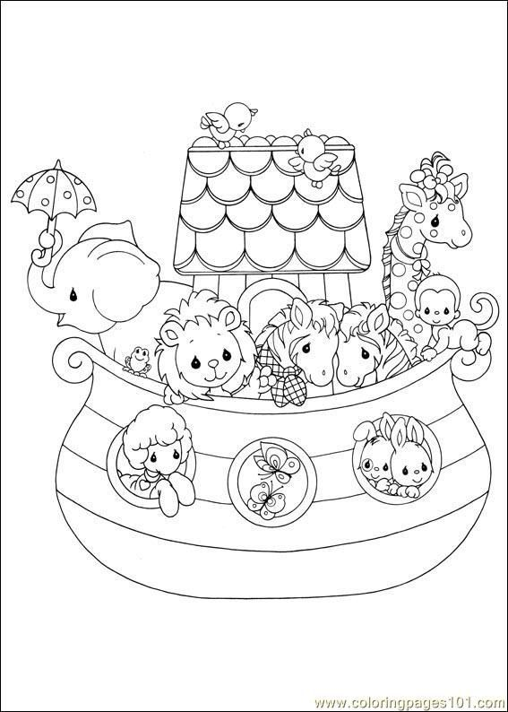 567x794 Free Children Coloring Pages Of Noah Ark Baby Room