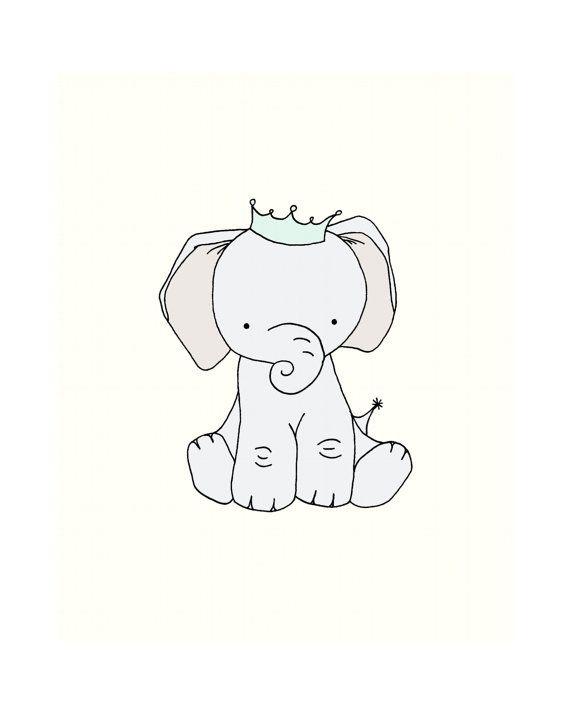 570x713 Baby Elephant Wall Art For Nursery ~ Thenurseries