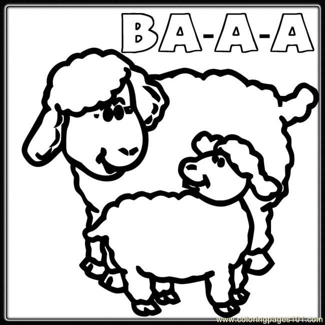 650x650 Mother Baby Sheep Coloring Coloring Page