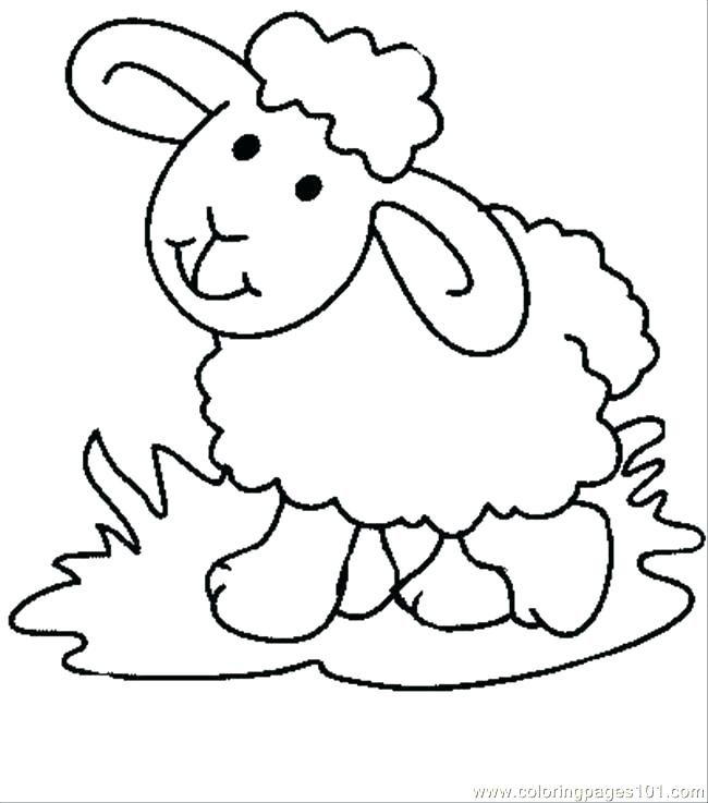 650x737 Sheep Coloring Picture Lamb Colouring Page 2 Pictures Of Sheep
