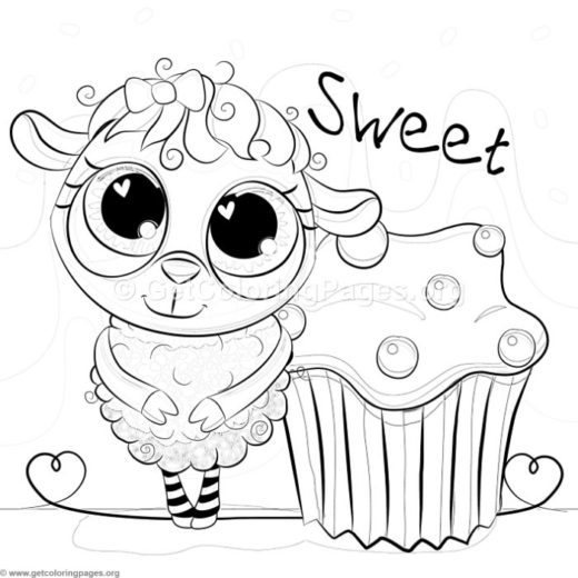 520x520 Baby Lamb Coloring Pages