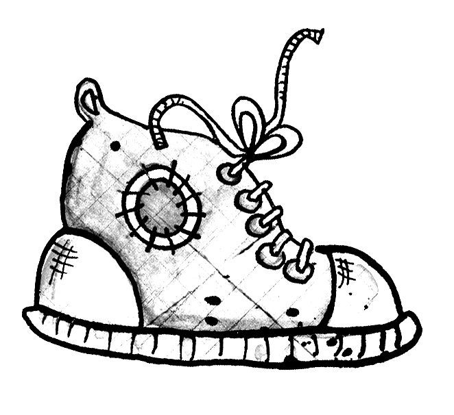 Baby Shoes Drawing
